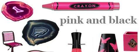Interior Design Trends: Pink & Black