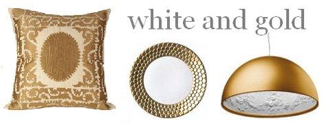 Interior Design Trends: White & Gold