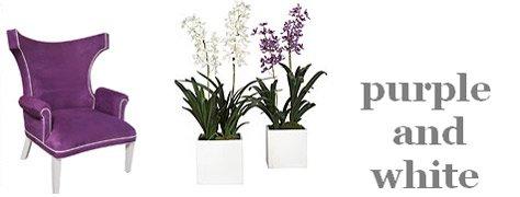 Interior Design Trends: Purple & White