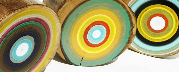 Tracey Melton's Tree Ring Paintings & Other Lovely Layers