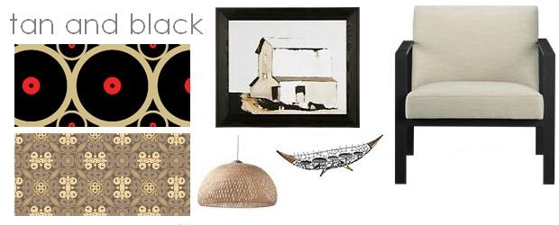 Interior Design Trends: Tan & Black