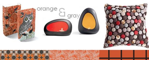 Interior Design Trends: Orange & Gray