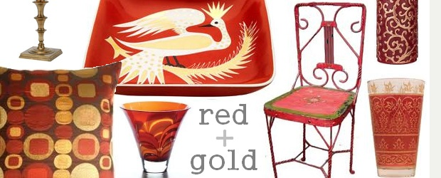 Interior Design Trends: Red and Gold