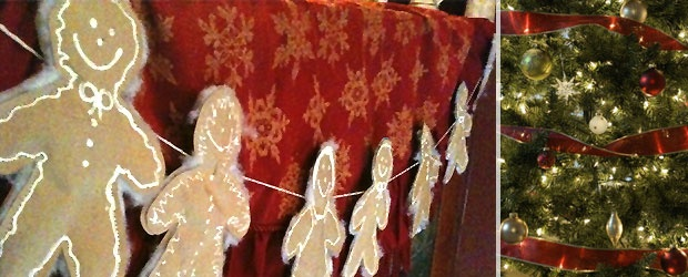 Winter Garland DIY: Gingerbread Bunting from Recycled Bags