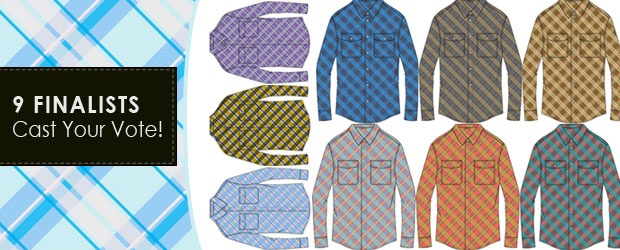 Betabrand + COLOURlovers: Color a Plaid Shirt Continued Voting