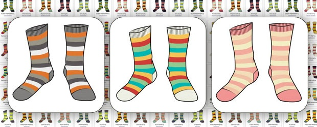 Striped Sock Design Contest with Betabrand... 30 Finalists -Go Vote!