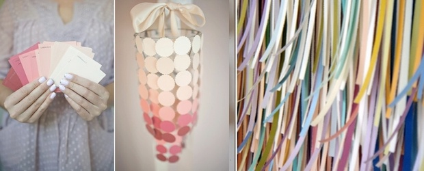 Crafting With Paint Chips. DIY & Art Galore