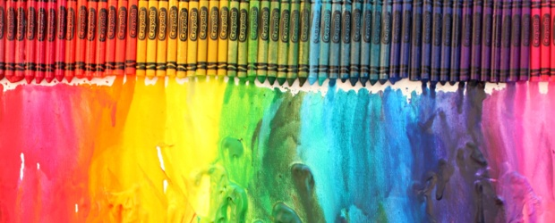 Colorful Melted Crayon Art